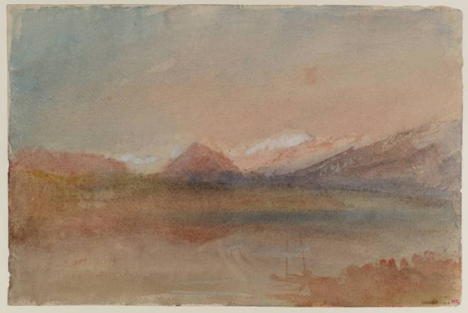 Valley with Distant Mountains after circa 1830 by Joseph Mallord William Turner 1775-1851